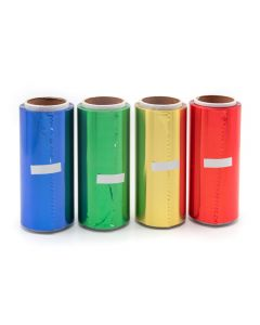 Vizo Hicleen Hair Foil Roll 15 Micron 4Pcs In Blue Green Red And Gold Color 12cm x 50m