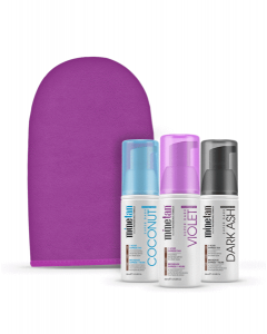 MineTan Self Tan Foam Minis Pack (3 pcs*50ml + mitt)