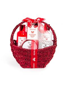 IDC Institute Scented Bath Red Raffia Basket