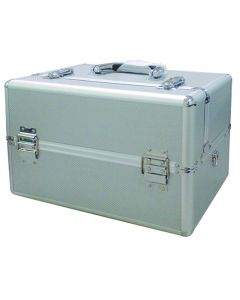 Masters Professional Beauty Tool Case With Silver Aluminium Pattern