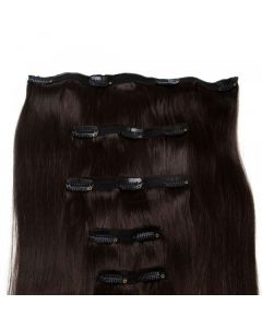 Seamless1 Clip - in Human Hair Extensions - Caviar - 5pc Set