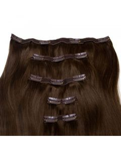 Seamless1 Clip - in Human Hair Extensions - Espresso - 5pc Set