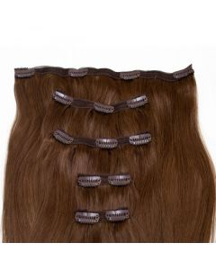 Seamless1 Clip - in Human Hair Extensions - Mocha - 5pc Set