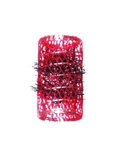 Vibe Professional Metal Spring Rollers With Brushes 32mm Red 6Pcs