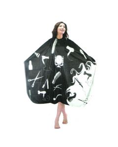 Vibe Professional Cutting Cape Black & White