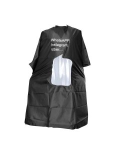 Vibe Professional Cutting Cape With Window Black