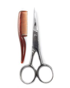 Vibe Professional Mustache Beard Eye Brow Scissor And Comb Blister