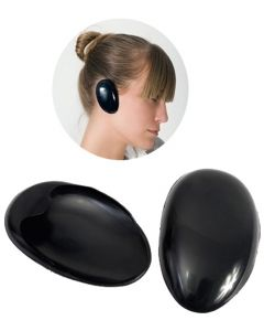 Vibe Professional Silicone Ear Protector Black Pair