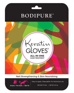 Bodipure Moisturizing Gloves with Keratin + 1 Nail File
