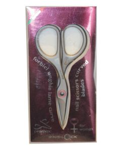 Premax Stainless Steel Curved Nail Scissors for Women With Ringlock System