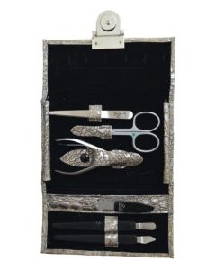 Premax Manicure Set Silver Touch With 6 Crystal Manicure Implements