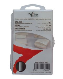 Vibe Professional Perfect Square Nail Tips White 100ct
