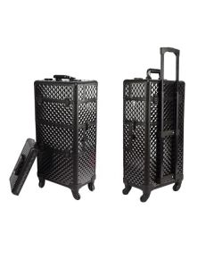 Masters Professional 4 in 1 Beauty Case with Wheels Black Diamond