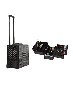 Masters Professional Rolling Makeup Case with Trays