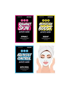 Bodipure Beauty Facial Sheet Masks Kit (Pack of 3)