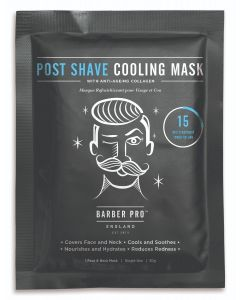 BarberPro POST SHAVE COOLING MASK with Anti-Ageing collagen 30g