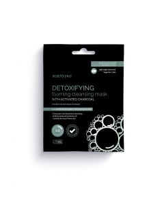 BeautyPro DETOXIFYING foaming cleansing mask with charcoal 20g