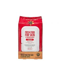 Farmskin Freshfood For Skin Cleansing Wipes For Dry Skin (60 wipes/pack)